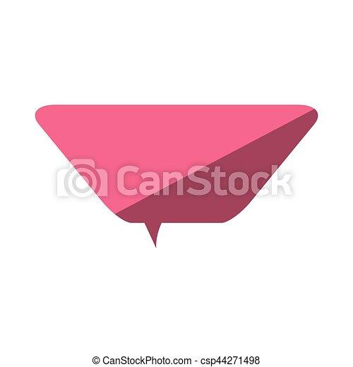 rosa, amore, discorso, dialogo, messaggio, bolla - csp44271498