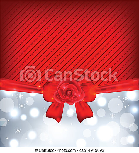 rosa, arco, fondo, regalo, festivo - csp14919093