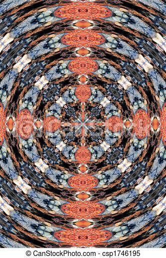 Rosado y azul abstracto - csp1746195