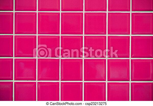 Rosa Azulejos Mosaico Textura Rosa Estilo Piso Pared Patron - Azulejos-rosas