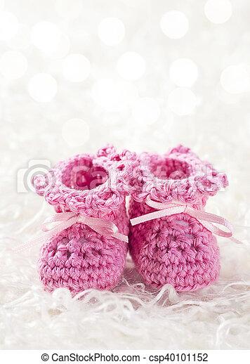 buy popular b8c89 20cff rosa, babyschuhe, häkelarbeit