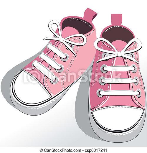 rosa, bambini, scarpe - csp6017241