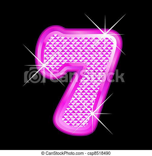 7 rublos de mujer rosa - csp8518490
