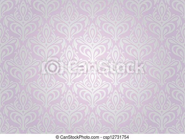 Carta Da Parati Damascata Rosa : Rosa carta da parati pallido argento rosa carta da