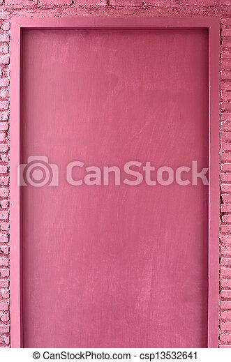 Puerta de color rosa - csp13532641