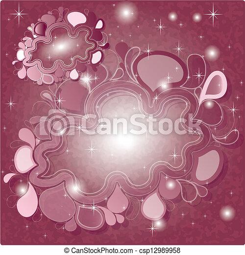 rosa, colorare, astratto, fondo, brillare, nuvola - csp12989958