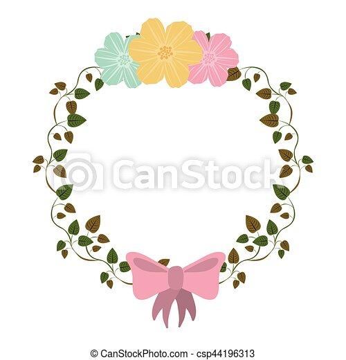 Rosa Colorido Ornamento Arco Enredaderas Flores Rosa Colorido