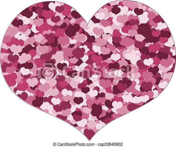 Rosa Corazón Hecho Corazones Rosa Corazón Utilizado Amor