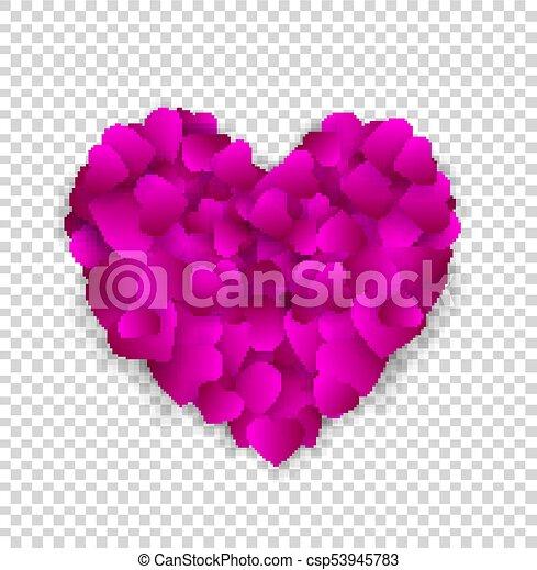 Rosa Corazón Hecho Grande Aislado Pequeño Corazones