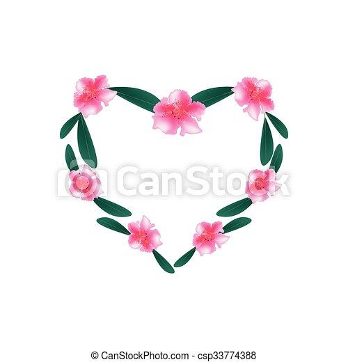 Rosa Corazón Rododendro Flores Forma Rosa Corazón Rododendro