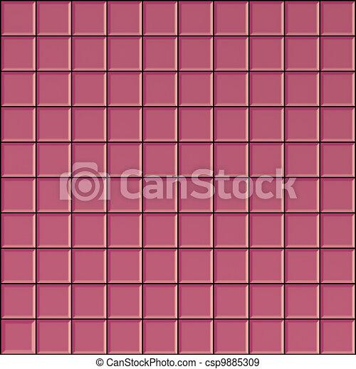 rosa cuarto de bao cuadrado render 3s azulejos superficie ilustracin de archivo - Azulejos Rosa