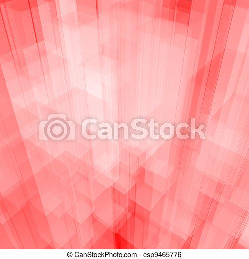 Antecedentes de vidrio rosa brillante con cubos artísticos o formas cuadradas - csp9465776