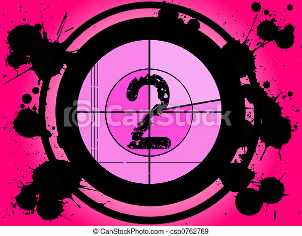 rosa, cuenta atrás, 2, -, película - csp0762769