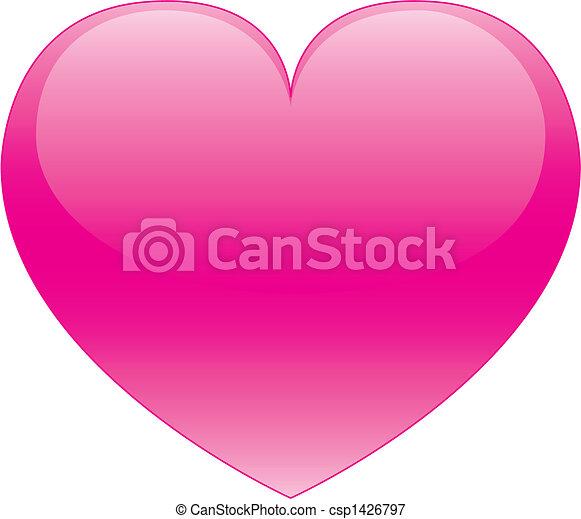 rosa, cuore - csp1426797