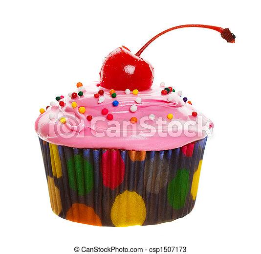 rosa, cupcake - csp1507173