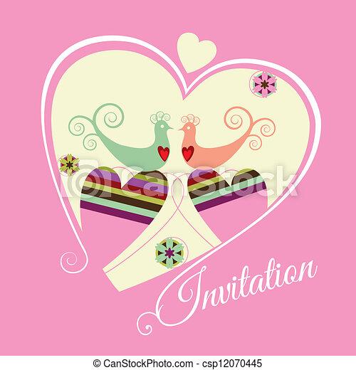 rosa, data, fidanzamento, risparmiare, invit - csp12070445
