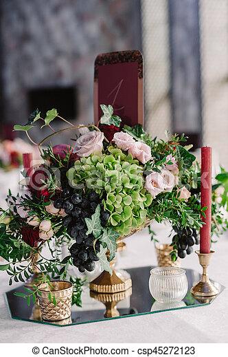 Rosa Dekoration Traube Grun Blumen Hochzeitstafel Rosa Grun
