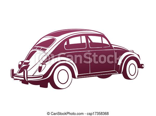rosa, dolce, vecchio, auto - csp17358368