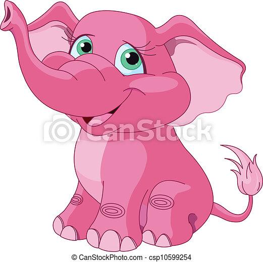 rosa, elefant - csp10599254
