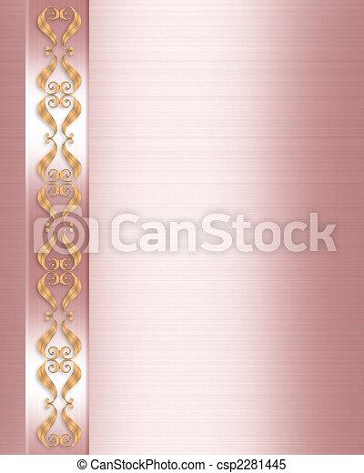 Rosa Elegant Hochzeitskarten Rosa Gold Raum Umrandungen