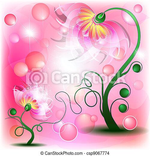 rosa, fata, fiori - csp9067774