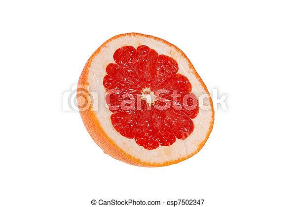 Medio jugoso pomelo rosa - csp7502347