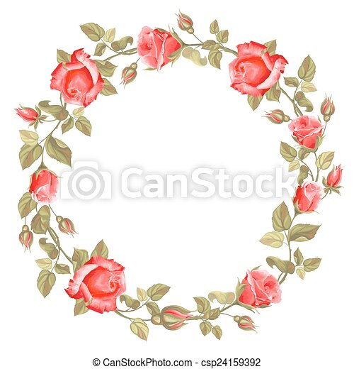 La corona de rosa - csp24159392