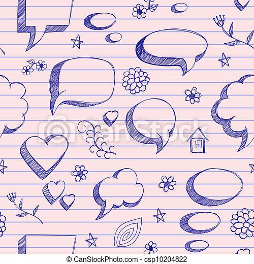 El Discurso No Tiene Burbujas En La Hoja Rosa De Un Cuaderno