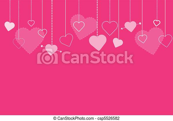 rosa, immagine, valentines, fondo - csp5526582