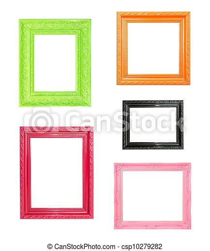 rosa, immagine, vendemmia, cornice, blu, legno, fondo - csp10279282