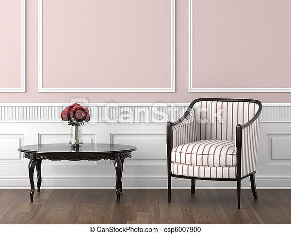 rosa, interno, bianco, classico - csp6007900