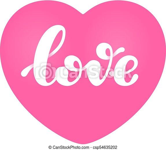 Rosa Letras Palabra Corazón Aislado Forma Amor Rosa Letras