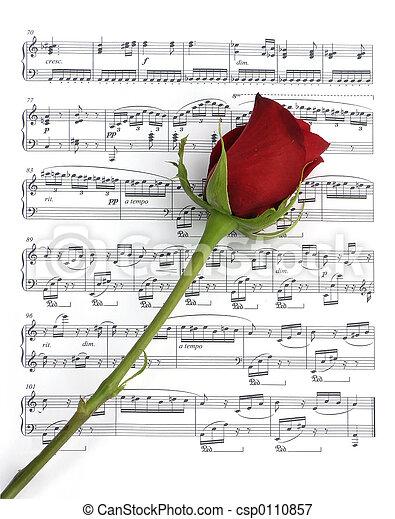 rosa, música - csp0110857