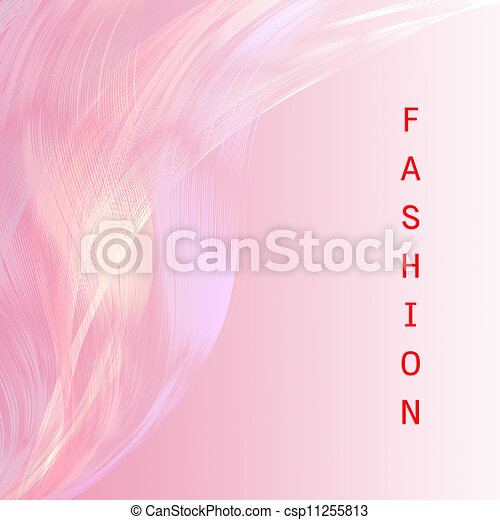 Palabras de moda con una línea rosa atractiva - csp11255813