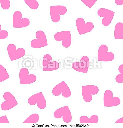 rosa, modello cuore, seamless, fondo., vendemmia, bianco - csp15026421