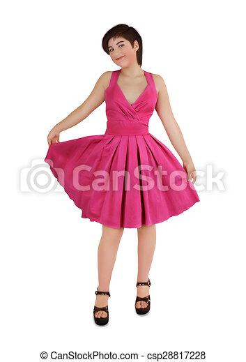 nuevas imágenes de baratas precio competitivo rosa, niña, vestido