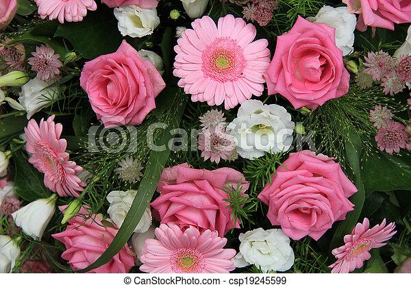 Rosa Nupcial Flores Gerberas Rosas Flor Rosa Arreglo Rosas