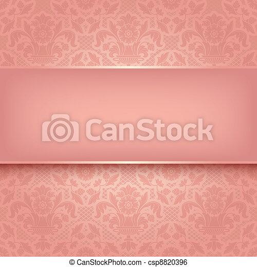 La textura de la tela adornada rosa. Vector 10 - csp8820396