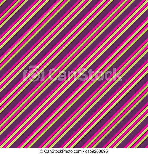 rosa, púrpura, diag., papel, raya, cal - csp9280695