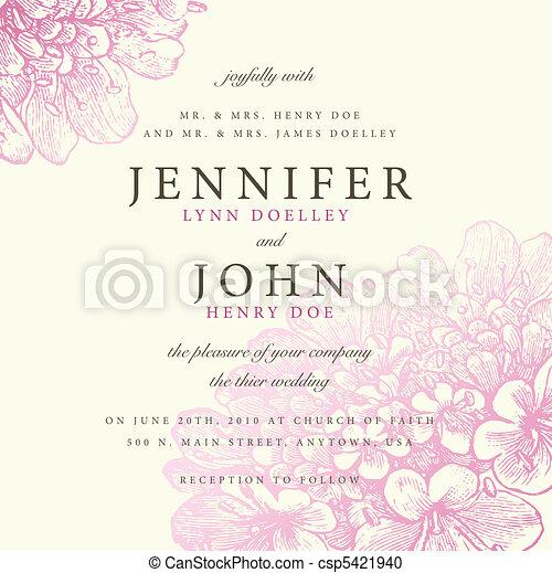 rosa, pastel, marco, vector, floral - csp5421940