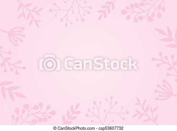 Rosa Pastello Fiore Sfondo Colore Bordo Rosa Pastello Fiore