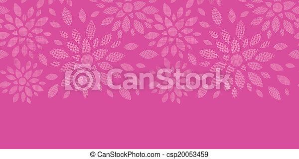 Flores textiles abstractas de rosa horizontales sin fondo - csp20053459