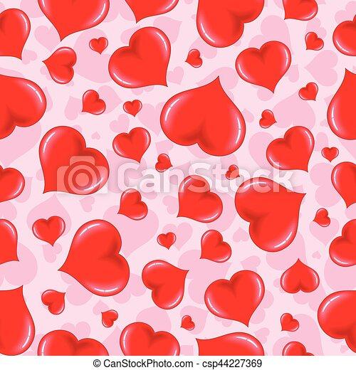 Patrón sin cortes con rosa del corazón - csp44227369