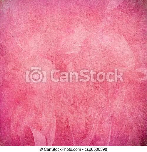 Una pluma rosa abstracta - csp6500598