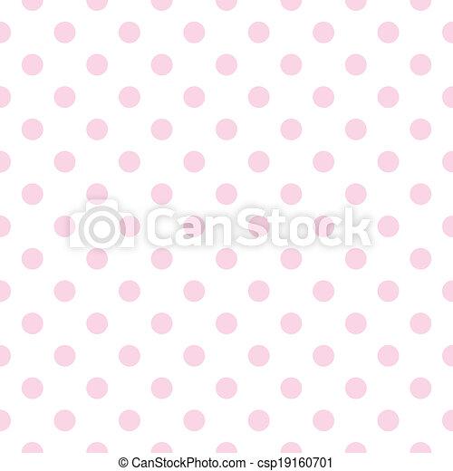 Polka rosa puntiagudo vector de fondo - csp19160701