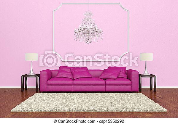 Kronleuchter Rosa ~ Rosa sofa kronleuchter. rosa brauner boden hölzern sofa
