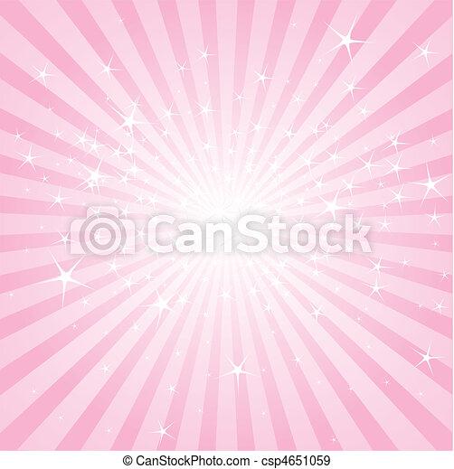 rosa, sterne streifen, abstrakt - csp4651059