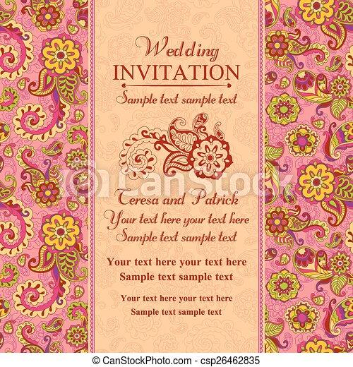 Rosa Turkisch Einladung Wedding Osten Stil Rosa Pastell