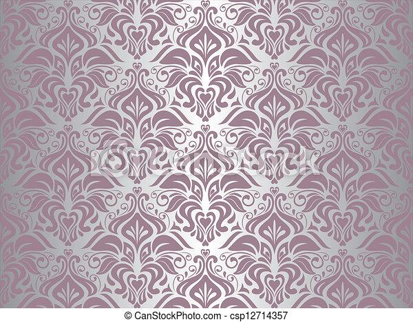 rosa tapete silber hintergrund clipart vektor csp12714357 - Hintergrund Tapete