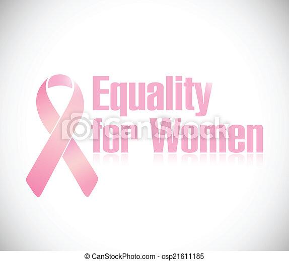 rosa, uguaglianza, illustrazione, disegno, nastro, donne - csp21611185